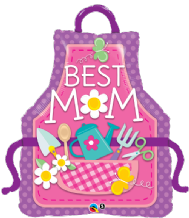 Best Mum Apron Large Foil Balloon 1pc